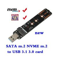 SATA M.2 NVME M.2 to USB3.0 USB3.1 Test card USB A to M.2 dual protocol adapter