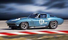 1965 Chevy Corvette  Vintage Classic Race Car Photo CA-1054