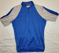 Pearl Izumi Ultrasensor Cycling Jersey 3/4 Zip Short Sleeve Blue Gray mens med