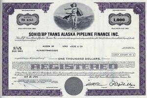Sohio/BP Trans Alaska Pipeline Finance Inc. 1975, 8 5/8% Note d. 1983 (1.000 $)