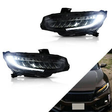 2016 2017 2018 For Honda Civic 10th Headlight Front Lamps all LED Pair Modified