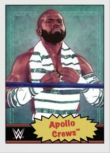 TOPPS WWE LIVING SET CARD APOLLO CREWS #75 ONLINE EXCLUSIVE LIMITED EDITION