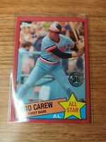 Rod Carew 2020 Topps Series 2 1985 35th Anniversary Red PARALLEL #D /10 SSP