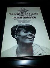 Dionne Warwick Promises, Promises Rare Original Promo Poster Ad Framed!