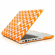 "UNIK CASE-Chevron Matte Hard Case for Macbook Pro 15"" with DVD Drive-Orange"