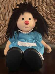 "1996 Playmates Big Comfy Couch Molly Doll Vinyl Head Arms Legs 14"" Clown Flawed"