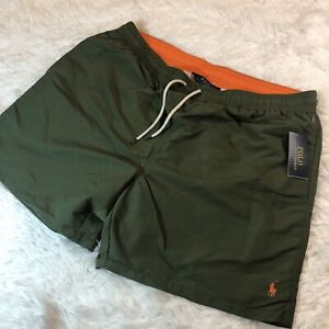 """Polo Ralph Lauren Traveler 5 3/4"""" Swim Trunks Olive Green Size 1XB Mens $70"""