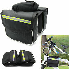 Cycling Bicycle Bike Top Frame Tube Front Double Pannier Saddle Bag Holder Pouch