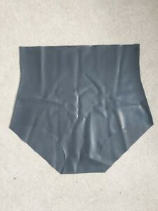 Latex Black High Waisted Knickers