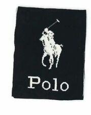 $191 Polo Ralph Lauren Men's Black Graphic Logo Winter Muffler Scarf One Size