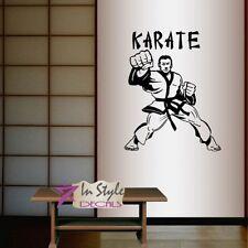 Vinyl Decal Karate Fighter Martial Arts Man Sportsman Sports Boy Wall Sticker 80