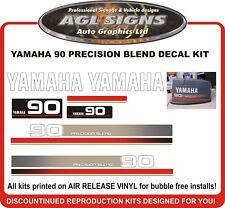 YAMAHA 90 HP PRECISION BLEND  Reproduction Decal Kit