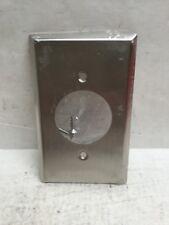 (Qty 23) Mulberry Single Gang Locking Receptical 20A Satin SS Wall Plates 97111