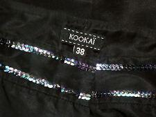KOOKAI SequinWaistbandSmartBlackPants Size38 as NEW