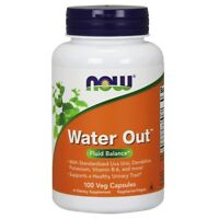 NOW Foods WATER OUT Herbal Diuretic - 100 veg capsules - HEALTHY URINARY TRACT