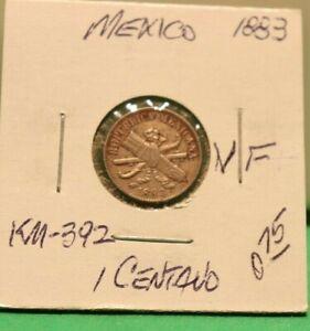 1883 Mexico 1 Centavo KM-392 Coin