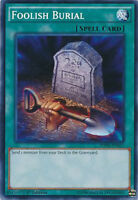 Foolish Burial Common 1st Edition Yugioh Card SDPD-EN027