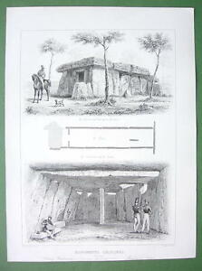 ARCHITECTURE PRINT : Megalith Monuments in Francer Saumur