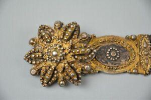 Antique Russian/Caucasian silver niello belt,19thC