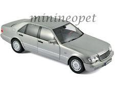 NOREV 183563 1997 MERCEDES BENZ S 600 CLASS 1/18 PEARL LIGHT GREY METALLIC