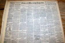 1881 newspaper JESSE JAMES OUTLAW GANG robs ROCK ISLAND Train @ WINSTON Missouri