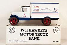 ERTL BANK ~ 1931 HAWKEYE TRUCK ~ ERTL TOYS 1992 ~ 1/34