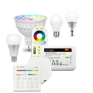 MiLight 2.4g WIFI RGB CCT MR16 GU10 E27 E14 led bulb lamp Dimmable spot light
