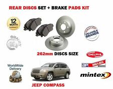 FOR JEEP COMPASS 2.0 DT 2.2 DT 2.4 2006->ON REAR BRAKE DISCS SET + DISC PADS KIT