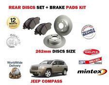 Para Jeep Compass 2.0 DT 2.2 DT 2.4 2006 - > En Discos De Freno Trasero Conjunto + Kit De Pastillas De Disco