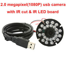 2MP USB Camera Module 24IR LED CMOS High Speed 120fps MJPEG YUY2 Out 12mm Lens