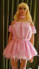 S-4X Sissy Pink Top & Skirt Dress M L XL 2X 3X Cosplay Harajuku Kawaii