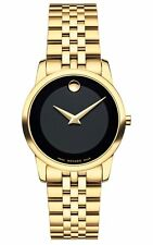 Movado Swiss Museum Classic Gold PVD Stainless Steel Women's Watch 0607005 SD