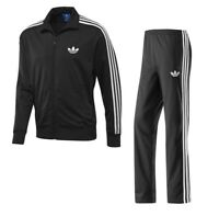Adidas Originals Adi Firebird Mens Full Tracksuit Sports Jacket Bottoms Black