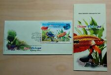 2003 Malaysia Fighting Fish Miniature Sheet (MS) Stamps on FDC