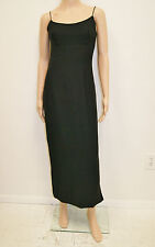 Vintage 60's Mid Century Atomic Black Formal Gown Dress - Size Xs