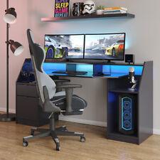 Computertisch Gamingtisch Schreibtisch Joel PC-Tisch Schwarz Gamertisch Vicco