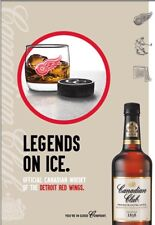 Canadian Club Whiskey/Detriot Red Wings Poster 24 By 36 Inch