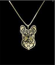 French Bulldog Pendant Necklace Gold ANIMAL RESCUE DONATION