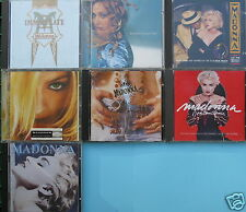 """lot de 7 CD de """" madonna, réf A14/08/16"""