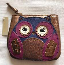 Owl Purse Accessorize Bronze Metallic Blue Purple Sparkle