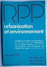 Revue Politique et Parlementaire 11/1973; L'Urbanisme de la Rome Antique