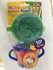 NUBY SNACK KEEPER 2 Pack BPA FREE 9Oz SUPER SOFT TRY ME 12 + M TODDLER TRAINING