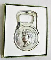Wonderful Christofle Silver Plated Bottle Opener Emperor Napoleon Bonaparte
