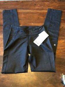 LULULEMON 'City Beat Pant' in Black Denim~NEW with TAGS $92~Size 6