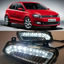 LED DRL Fog Light Lamp for VW New Polo 2010-2013 Daytime Running Lights Modified