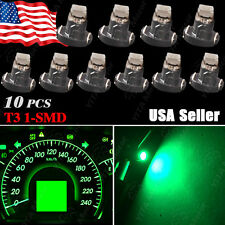 10x T3 Neo Wedge 1-1210 SMD SMT LED Green Cluster Instrument Dash Climate Bulbs