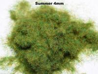WWS Summer Static Grass 4mm, Railway Wargame Diorama Select Weight