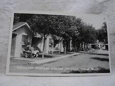 DETROIT LAKES MN Minnesota Lakeside Tourist Cabins vintage  RPPC Postcard
