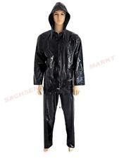 Capi d' abbigliamento erotico neri cerniera , Materiale PVC