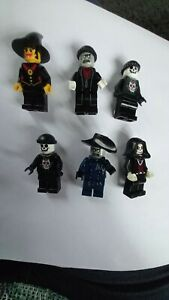 Lego minifigure Halloween spooky bundle witch skeletons etc x 6 figures